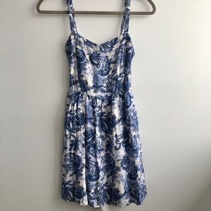 Garage Blue Paisley Tank Sundress w/ Back Cutout